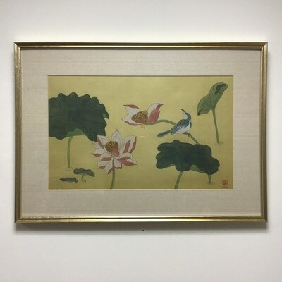 Spring Song Lindsey Davis Framed And Signed Watercolor On Silk