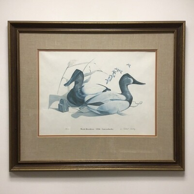 W Robert Tolley Framed Signed And Numbered Print Ward Brothers 1936 Canvasback Decoys
