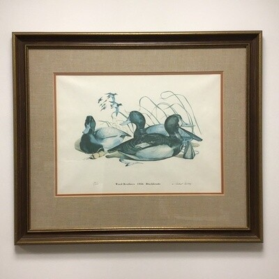 W Robert Tolley Framed Signed And Numbered Print Ward Brothers 1936 Blackhead Decoys