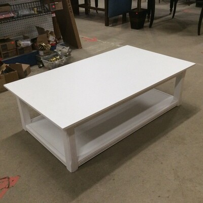 Solid Wood White Coffee Table