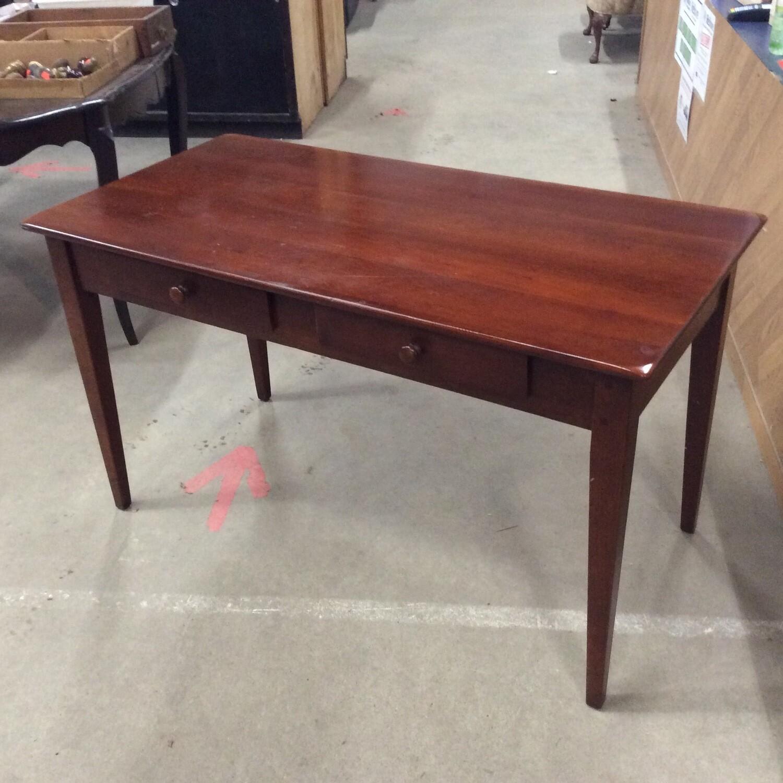 2 Drawer Solid Wood Desk Table