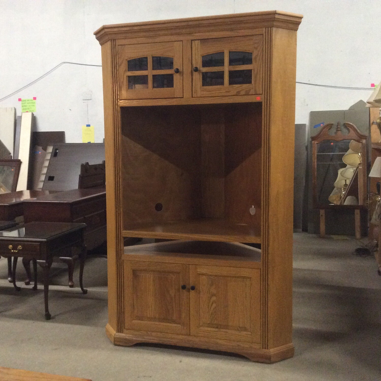 Corner Entertainment Cabinet