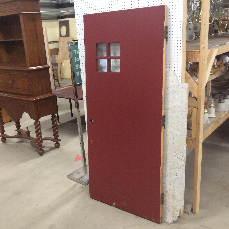 Solid Wood Exterior Door w/Small Window