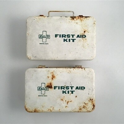 Vintage HALCO First Aid Boxes Lot Of Two