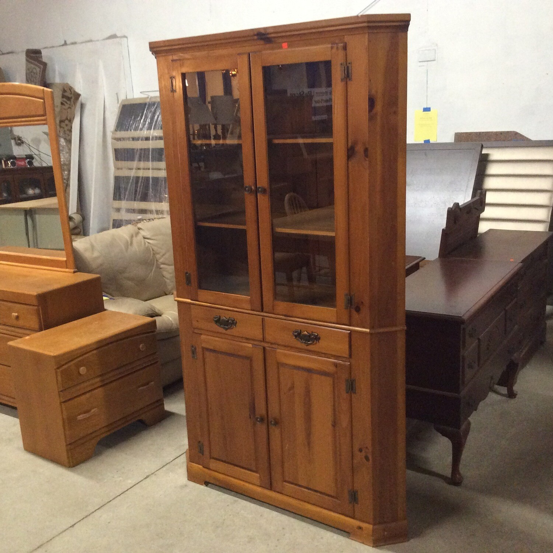 Pine Corner Storage Cabinet