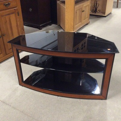 3 Tier Tempered Glass Entertainment Stand