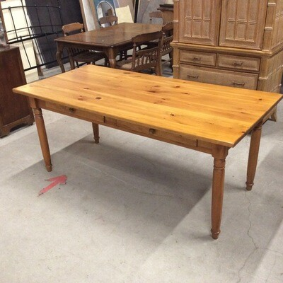 4 Drawer Solid Pine Table