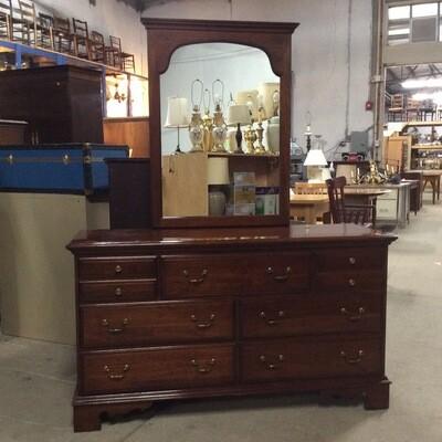 7 Drawer Solid Wood Bureau w/ Mirror