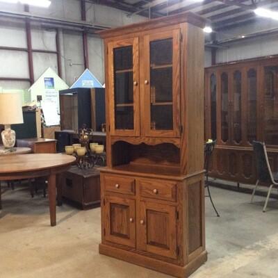 Solid Wood Kitchen Storage Hutch
