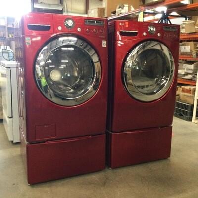 LG True Steam Washer & Dryer Set