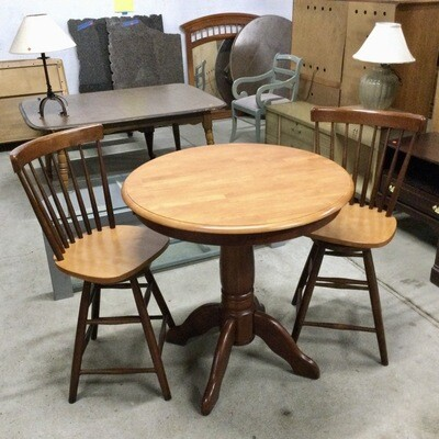 Solid Wood Bistro Table & Chairs Set