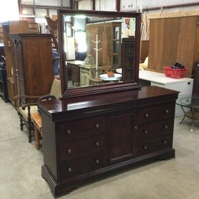 6 Drawer Storage Bureau w/ Mirror
