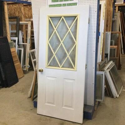 Metal Exterior Door w/ Window