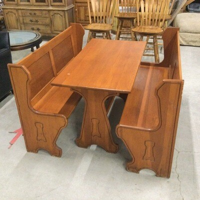 Kitchen Table & Two Bench Set