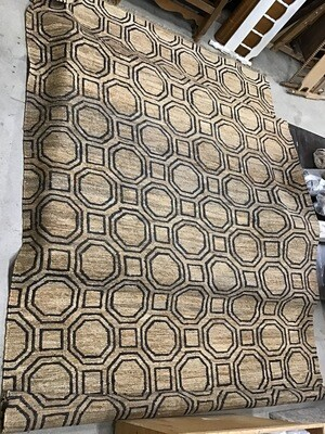 10x14 handknotted jute rug