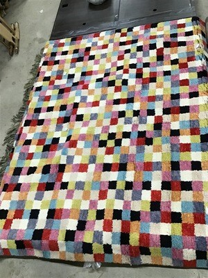010112 10x14 hand knotted wool rug Colorful and fun