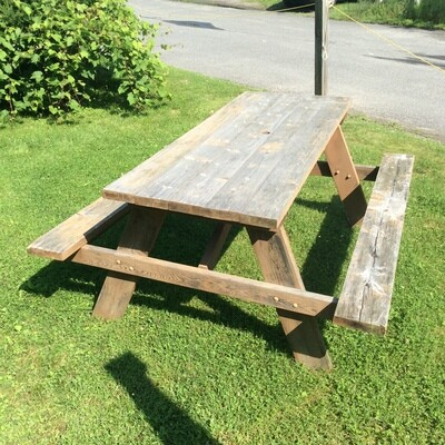 Solid Wood Picnic Table