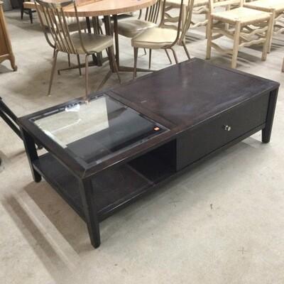 Dark Finish Coffee Table
