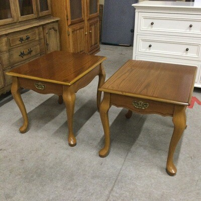 Pair of Solid Wood End Tables/Nightstands