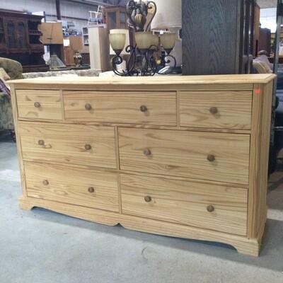 Solid Pine 7 Drawer Dresser
