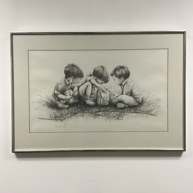 Three Boys Framed Print Artists Proof