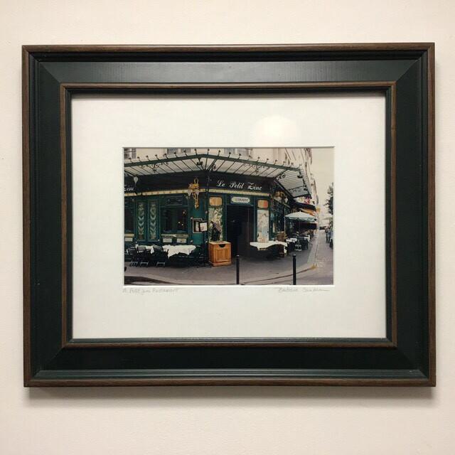 Barbara Sandson Le Petit Zinc Restaurant Framed And Signed Photograph