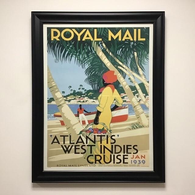 Atlantis West Indies Cruise Travel Framed Poster