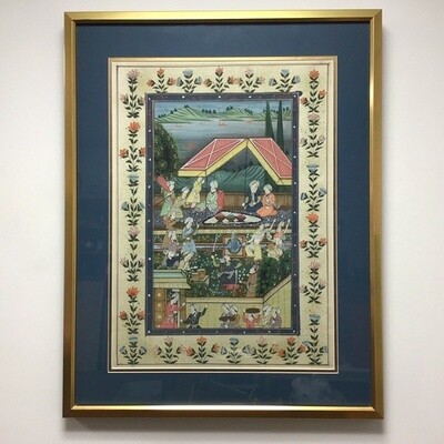 Persian Miniature Style Framed Lithograph