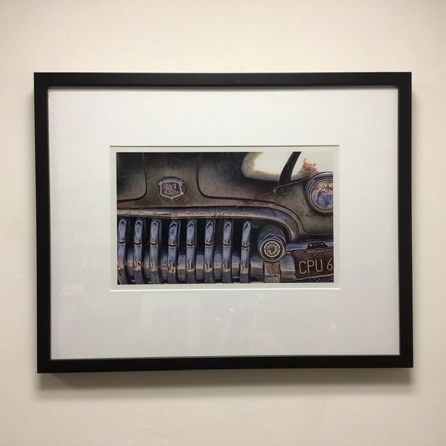 Framed Automobile Photograph