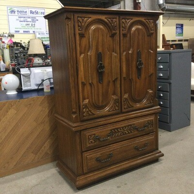 Solid Wood 4 Drawer Storage Cabinet
