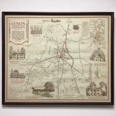 Framed Map Of Lenox
