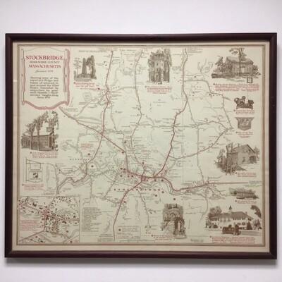 Framed Map Of Stockbridge