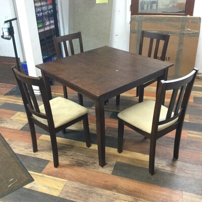Kitchen Table & 4 Chairs Set