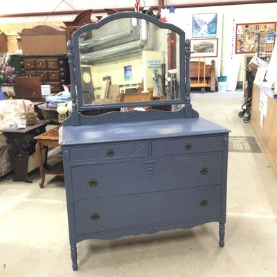 4 Drawer Solid Wood Dresser with Mirror