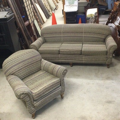 3 Seater Couch & Side Chair Set