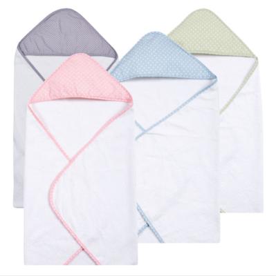 Personalized Hooded Bath Towel - Polka Dot