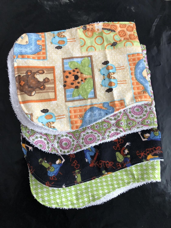 Child's 3 Pack Burp Cloth