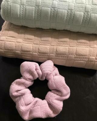Cotton Pastel Scrunchies