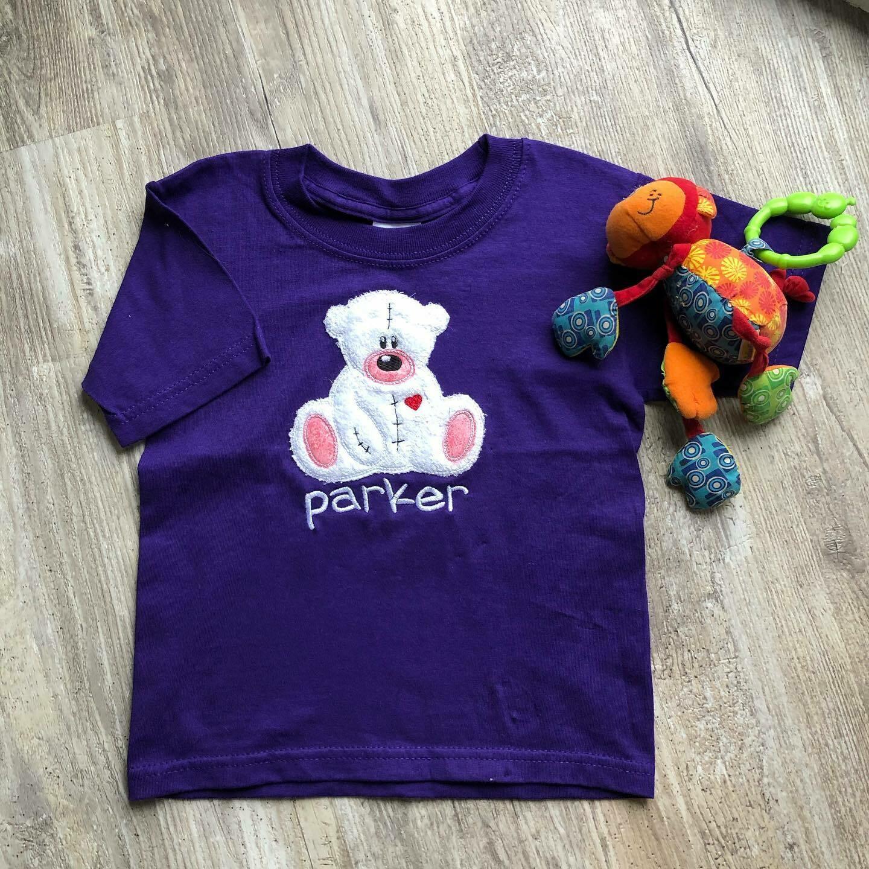 Child's Teddy Bear Applique Shirt