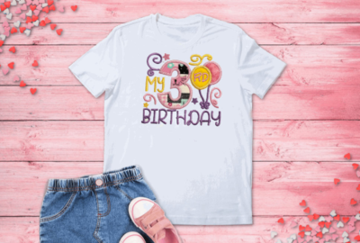 Girl Balloon Birthday Shirt -