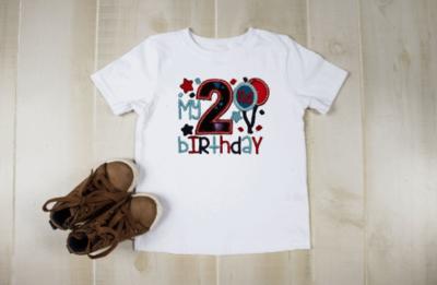 Boy Balloon Birthday Shirt -