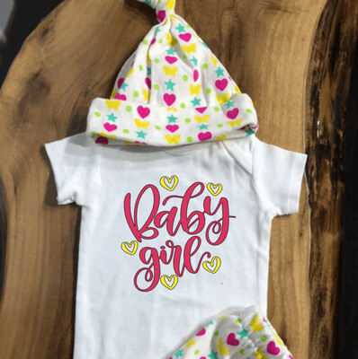 Newborn Coming Home Baby Girl Outfit