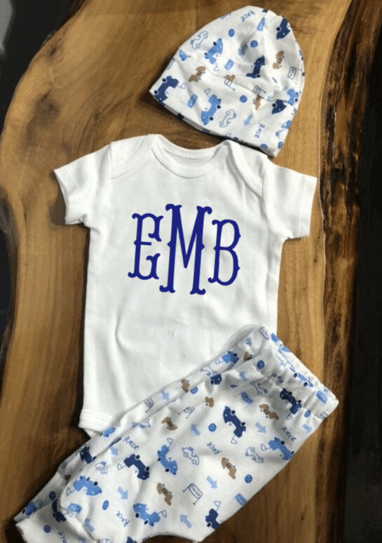 Newborn Personalized Coming Home Baby Boy Outfit