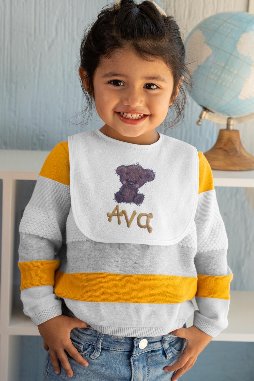 Baby's Personalized Teddy Bear Bib