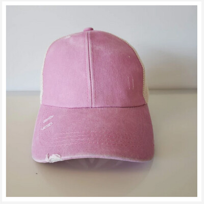 Personalized Distressed Ponytail  Cap