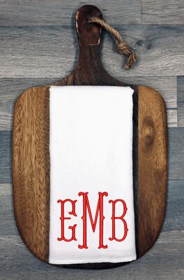 Custom Tea Towel   Personalized Embroidered Tea Towels