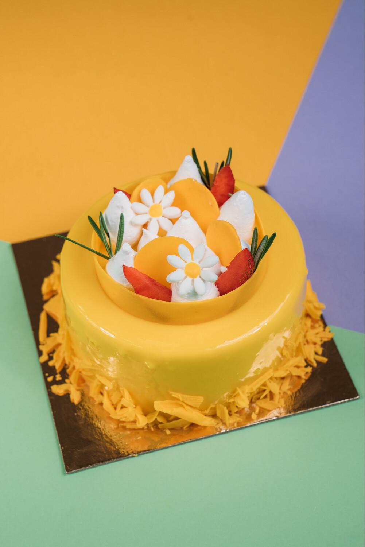 Торт Манго-клубника