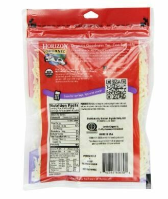 6oz Organic Shredded Mozzarella Cheese