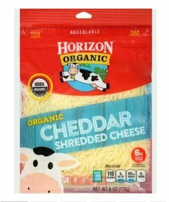 Horizon Organic Finely Shredded Cheese, Cheddar - 6 oz