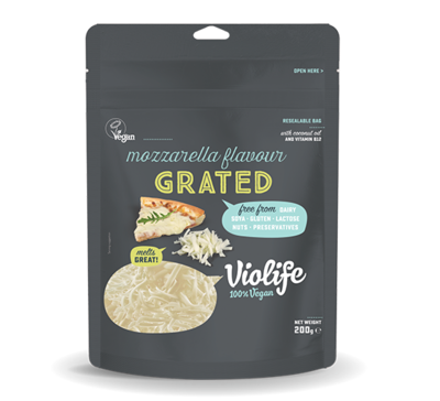 Mozzarella Flavour Grated Vegan Cheese